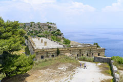 Old Byzantine fortress in Kerkyra Stock Images