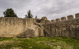 Old Byzantine Fortress Walls, Greece Stock Image