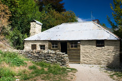 Old cabin. Gold rush's cottage, Arrowtown, Central Ottago, New Zealand stock images