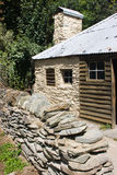 Old cabin. Gold rush's cottage, Arrowtown, Central Ottago, New Zealand stock photography
