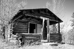 Old cabin along the Alaska Highway Royalty Free Stock Photo