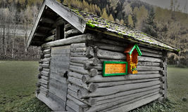 Old cabin alps Royalty Free Stock Image