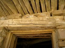 Old Cabin Door Header Royalty Free Stock Image