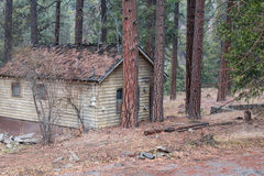 Old cabin in the forest Stock Photos