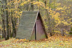 Old cabin in the forest Stock Photo