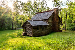 Old Cabin in the great smokey mountains national park. Cades cove smokey mountians national park, Old cabin at the senic lope Stock Image