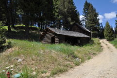 Old Cabin. House in Garnet Ghost Town, MT Royalty Free Stock Photography