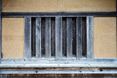 Old cabin house with wooden window Royalty Free Stock Photography