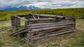 Free Old Cabin In Wyoming Royalty Free Stock Image - 61493146
