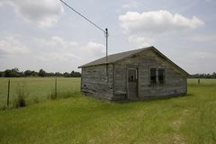 Old cabin, Marion County, South Carolina. A cabin behind an old abandoned gas station Royalty Free Stock Photo