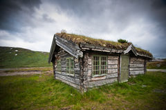 Old cabin in Norway. Old cabin in the mountains of Norway Stock Photos