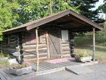 Old Cabin in Pioneer Park stock photo
