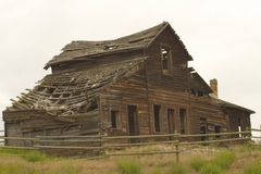 Old cabin in ruins Stock Image