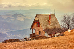 Old cabin. From Saruni, Romania Royalty Free Stock Photo