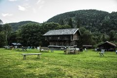 Old cabin in norway Stock Photos
