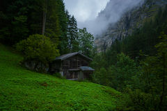 Old cabin. In the Swiss mountains Stock Images