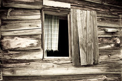 Old cabins window Royalty Free Stock Photography