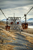 Old cable car for coal transportation HDR Royalty Free Stock Images