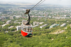 Old cable car on mount Mashuk Royalty Free Stock Images