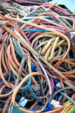 Old Cables. Messy pile of pld colorful cables stock photo