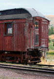 Old Caboose. Weathered old caboose on side track royalty free stock images