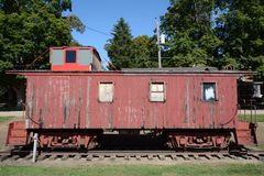 Old Caboose Stock Photo