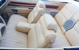 Old cabriolet interior Royalty Free Stock Photo