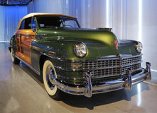 Old Cadillac Car. An old Cadillac car in exhibition hall Royalty Free Stock Photos