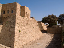 Old Caesarea Israel city walls Royalty Free Stock Images