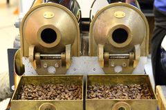Old cafe beans machine Royalty Free Stock Image