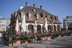 Old cafe house in Frankfurt city, Germany Stock Image