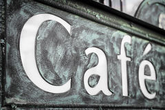 Old cafe sign Stock Images
