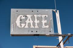 Old cafe sign Royalty Free Stock Images