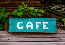 Old cafe sign Royalty Free Stock Photos