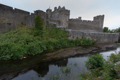 Old Cahir Castle. View to the old Cahir Castle in Ireland Stock Photos