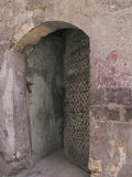 Old Cairo, Egypt, Africa - portico. Mysterious portico in Coptic area Stock Photo