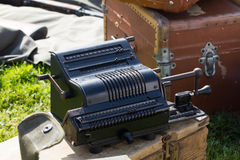 Old calculating machine Royalty Free Stock Image