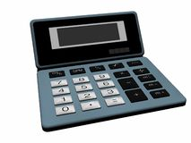 Old calculator. A computer generated image of an old issue calculator Royalty Free Stock Photos