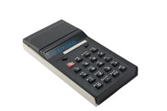 Old calculator. Royalty Free Stock Photo