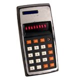 Old calculator. White background Stock Photography