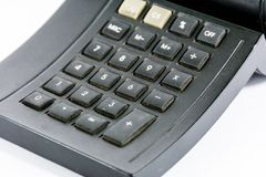 Calculator black Stock Image