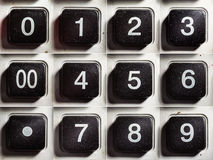 Old Calculator Buttons With Numbers Stock Photo