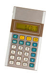 Old calculator - debit Stock Images