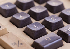 Old calculator for doing office related work Royalty Free Stock Photo