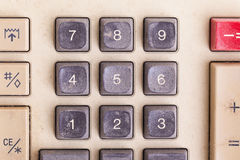 Old calculator for doing office related work Royalty Free Stock Photos