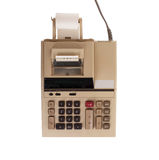 Old calculator for doing office related work Stock Photos