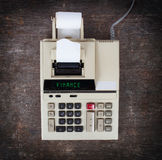 Old calculator - finance Royalty Free Stock Photo