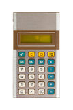 Old calculator, isolated on white. With clipping path Stock Photos