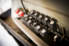 Old calculator keys. Stock Image