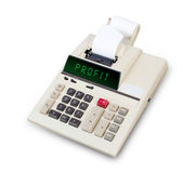 Old calculator - profit Stock Photography